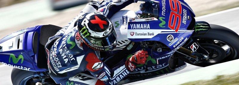 Motorrad Rennfahrer in der Seitenlage