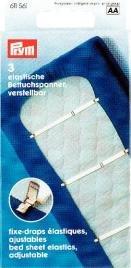 Prym elastische Betttuchspanner verstellbar 3 Stück - 1