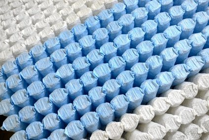 Taschenfederkerne einer Matratze