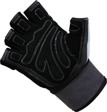 Trainingshandschuhe Leder mit Handgelenkschutz