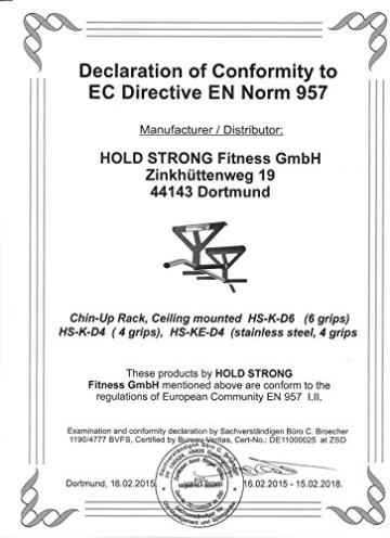 Hold Strong Fitness Klimmzugstange Deckenmontage
