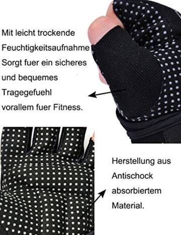 Damen Fitnesshandschuhe mit Handgelenkstütze