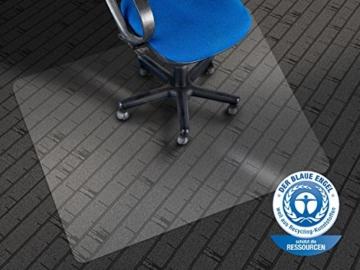 Bürostuhl Bodenschutzmatte transparent für Teppichböden