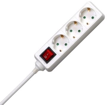 Steckdosenleiste mit Schalter