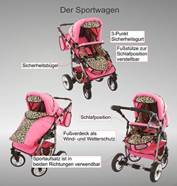 Chilly Kids Dino Kombikinderwagen 3 in 1