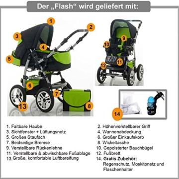 Dein Babyladen Flash Kombikinderwagen 3 in 1