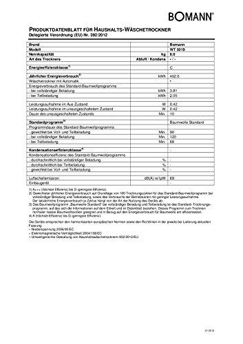 Bomann WT 5019 Ablufttrockner