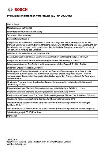 Bosch WTN83200 Kondenstrockner